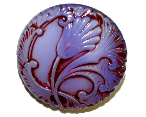 Best.Nr.:43041  Glasknopf, handgefertigt, handbemalt In Gablonz / Böhmen hergestellt.  (nur einmal auf Lager)