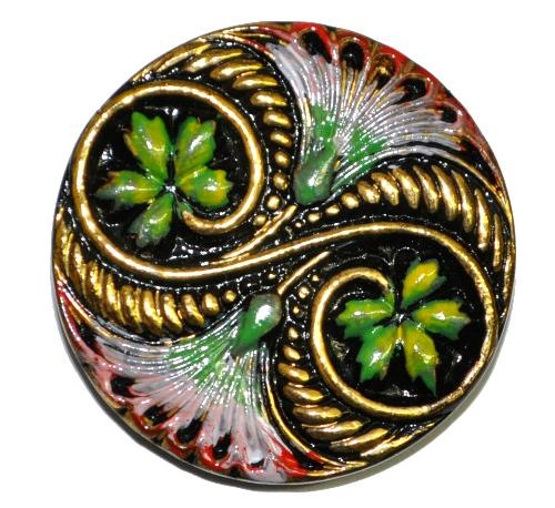Best.Nr.:43071  Glasknopf, handgefertigt, handbemalt In Gablonz / Böhmen hergestellt.  (nur wenige auf Lager)