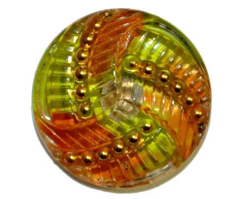 Best.Nr.:43086 Glasknopf, handgefertigt, handbemalt  In Gablonz / Böhmen hergestellt.  (nur einmal auf Lager)