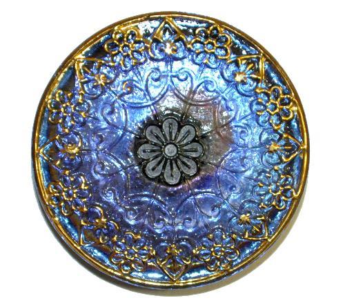 Best.Nr.:43087 Glasknopf, handgefertigt, handbemalt  In Gablonz / Böhmen hergestellt.  (nur wenige auf Lager)