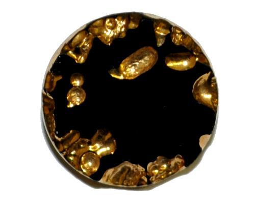 Best.Nr.:43097 Glasknopf, handgefertigt, handbemalt In Gablonz / Böhmen hergestellt  (nur einmal auf Lager)