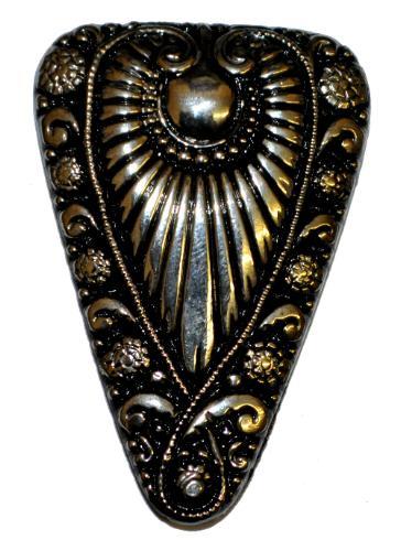 Best.Nr.:43104 Glasknopf, handgefertigt, handbemalt In Gablonz / Böhmen hergestellt  (nur einmal auf Lager)