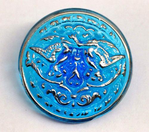 Best.Nr.:43104 Glasknopf, handbemalt  In Gablonz / Tschechien hergestellt  (nur wenige auf Lager)