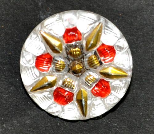 Best.Nr.:43109 Glasknopf, handgefertigt, handbemalt In Gablonz / Böhmen hergestellt  (nur wenige auf Lager)