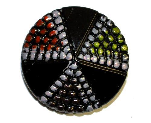 Best.Nr.:43126 Glasknopf, handgefertigt, handbemalt  In Gablonz / Tschechien hergestellt.  (nur wenige auf Lager)