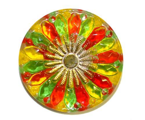 Best.Nr.:43128 Glasknopf, handgefertigt, handbemalt  In Gablonz / Tschechien hergestellt.  (nur wenige auf Lager)