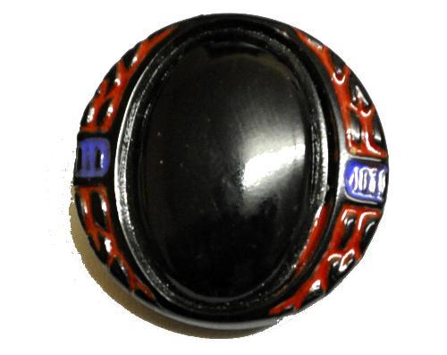 Best.Nr.:43134 Glasknopf, handgefertigt, handbemalt In Gablonz / Böhmen hergestellt.  (nur einmal auf Lager)