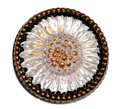 Best.Nr.:43136 Glasknopf, handbemalt  In Gablonz / Tschechien hergestellt  (nur einmal auf Lager)
