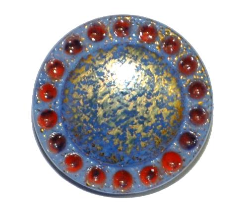 Best.Nr.:43148 Glasknopf, handgefertigt, handbemalt In Gablonz / Böhmen hergestellt  (nur einmal auf Lager)