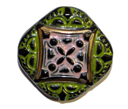 Best.Nr.:43154 Glasknopf, handgefertigt, handbemalt  In Gablonz / Böhmen hergestellt.  (nur einmal auf Lager)