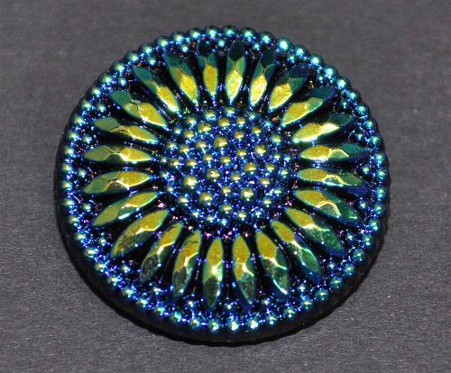 Best.Nr.:43156 Glasknopf, handbemalt  In Gablonz / Tschechien hergestellt  (nur wenige auf Lager)