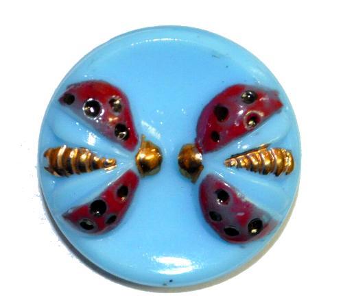 Best.Nr.:43157 Glasknopf, handgefertigt, handbemalt  In Gablonz / Böhmen hergestellt.  (nur einmal auf Lager)