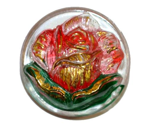 Best.Nr.:43167 Glasknopf, handgefertigt, handbemalt In Gablonz / Böhmen hergestellt  (nur einmal auf Lager)