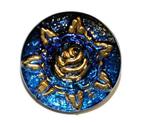 Best.Nr.:43169 Glasknopf, handgefertigt, handbemalt In Gablonz / Böhmen hergestellt  (nur einmal auf Lager)