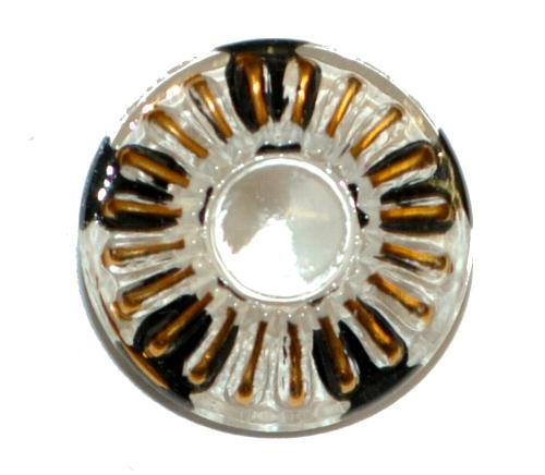 Best.Nr.:43176 Glasknopf, handgefertigt, handbemalt In Gablonz / Böhmen hergestellt