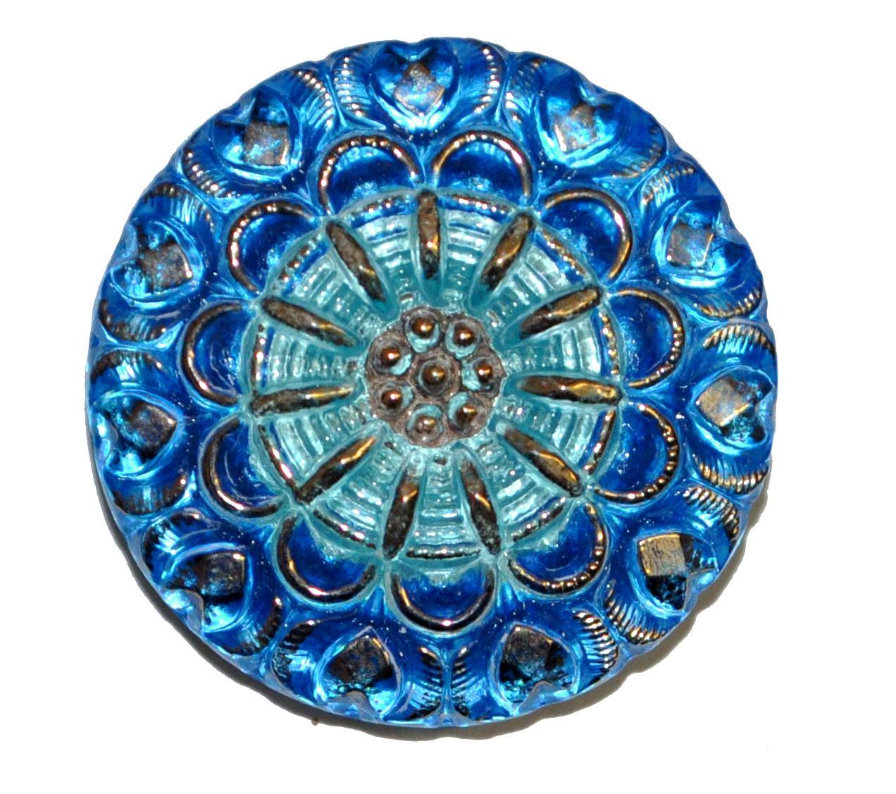 Best.Nr.:43193 Glasknopf, handbemalt  In Gablonz / Tschechien hergestellt  (nur einmal auf Lager)