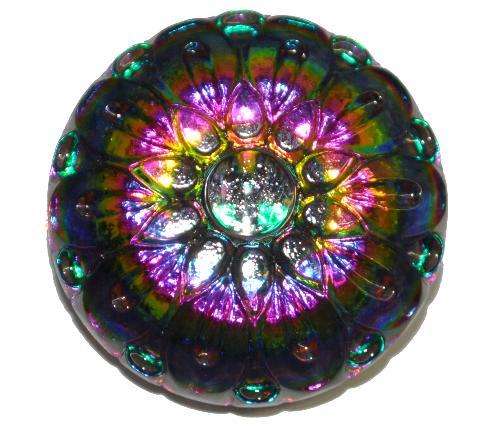 Best.Nr.:43195  Glasknopf, handbemalt  In Gablonz / Tschechien hergestellt  (nur wenige auf Lager)