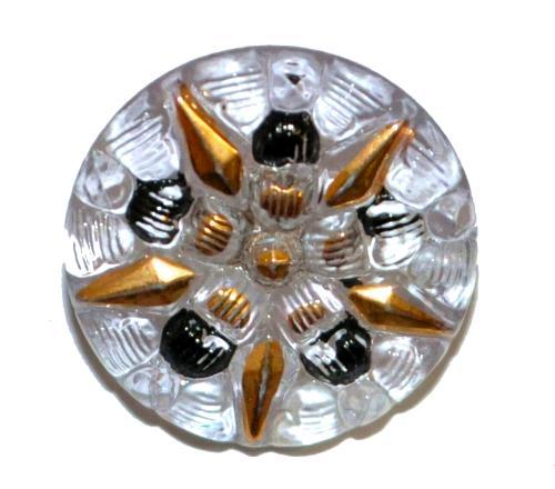 Best.Nr.:43202 Glasknopf, handgefertigt, handbemalt In Gablonz / Böhmen hergestellt  (nur einmal auf Lager)