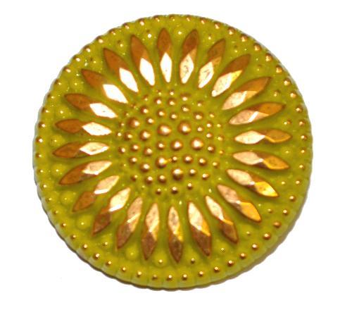 Best.Nr.:43211 Glasknopf, handgefertigt, handbemalt In Gablonz / Böhmen hergestellt.  (nur wenige auf Lager)