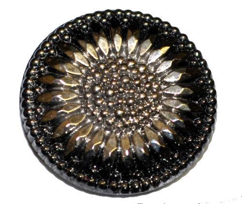 Best.Nr.:43211 Glasknopf, handbemalt  In Gablonz / Tschechien hergestellt  (nur einmal auf Lager)
