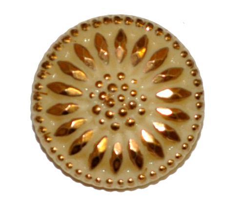 Best.Nr.:43215 Glasknopf, handgefertigt, handbemalt In Gablonz / Böhmen hergestellt (nur einmal auf Lager)