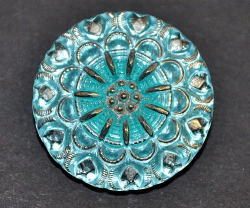 Best.Nr.:43219  Glasknopf, handbemalt  In Gablonz / Tschechien hergestellt  (nur einmal auf Lager)