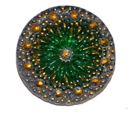 Best.Nr.:43222 Glasknopf, handbemalt  In Gablonz / Tschechien hergestellt  (nur einmal auf Lager)