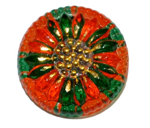 Best.Nr.:43261 Glasknopf, handgefertigt, handbemalt In Gablonz / Böhmen hergestellt  (nur einmal auf Lager)