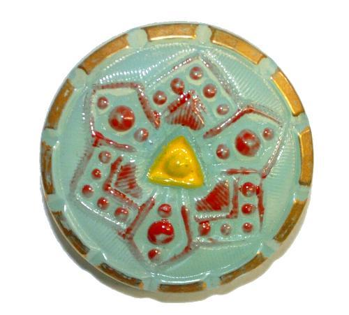 Best.Nr.:43310 Glasknopf, handgefertigt, handbemalt  In Gablonz / Böhmen hergestellt.  (nur einmal auf Lager)
