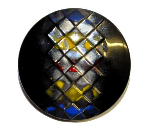 Best.Nr.:43311 Glasknopf, handgefertigt, handbemalt  In Gablonz / Böhmen hergestellt.  (nur einmal auf Lager)