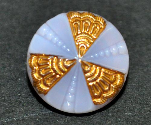 Best.Nr.:43319 Glasknopf, handgefertigt, handbemalt In Gablonz / Böhmen hergestellt.  (nur einmal auf Lager)