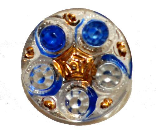 Best.Nr.:43362  Glasknopf, handgefertigt, handbemalt In Gablonz / Böhmen hergestellt.  (nur einmal auf Lager)