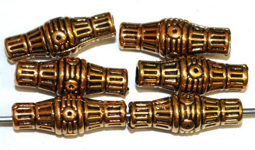 Best.Nr.:44009 Kunststoffperlen  zylindrisch metallic gold