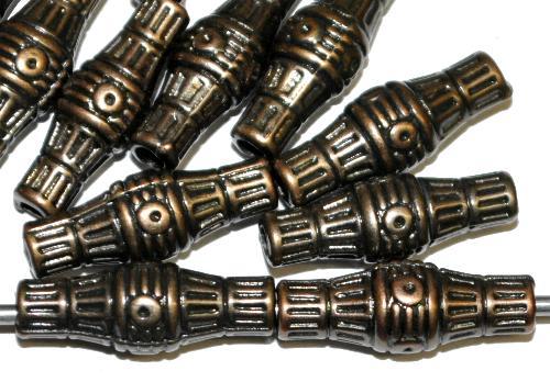 Best.Nr.:44012  Kunststoffperlen  zylindrisch metallic bronze