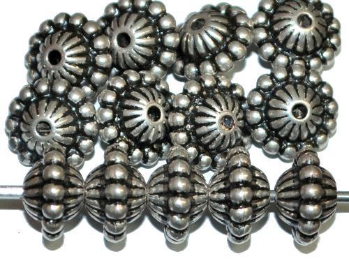 Best.Nr.:44020  Kunststoffperlen  Doppelkegel metallic silber