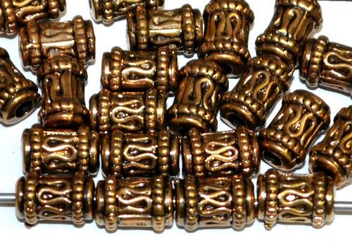 Best.Nr.:44028  Kunststoffperlen  zylindrisch metallic gold