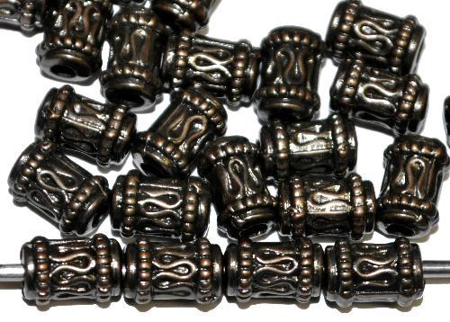 Best.Nr.:44029 Kunststoffperlen  zylindrisch metallic bronze