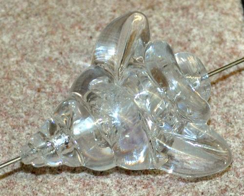 Best.Nr.:44034 große Kunststoff Perle, eine echte statement Perle aus der Zeit der swinging 60s,  in Gablonz/Böhmen hergestellt