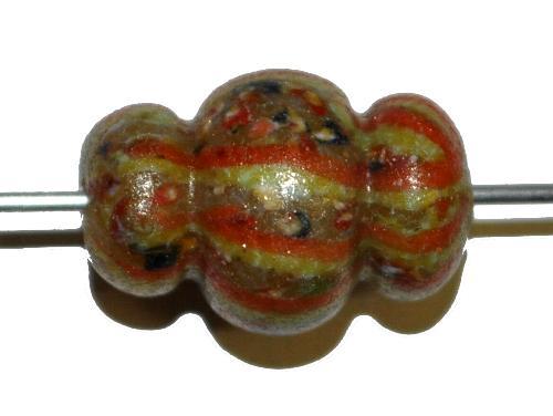 Best.Nr.:45098 Wickelglasperle rund, Einzelstück  in den 1930/1940 Jahren in Gablonz/Böhmen von Hand gefertigt