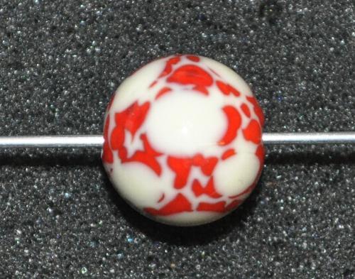Best.Nr.:45129 Wickelglasperle rund, Einzelstück  in den 1930/1940 Jahren in Gablonz/Böhmen von Hand gefertigt