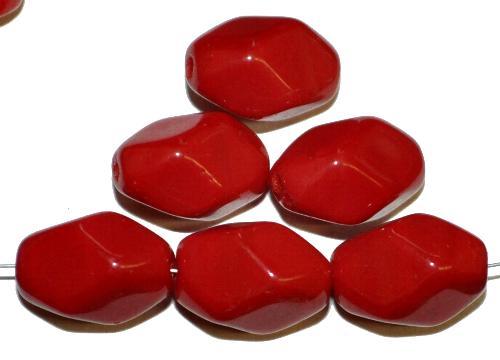 Best.Nr.:46031 Glasperlen rot opak, hergestellt in Gablonz / Tschechien