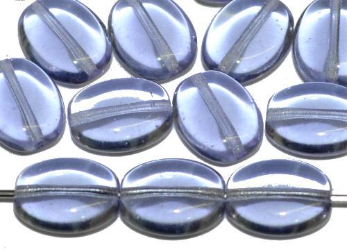 Best.Nr.:46090 Glasperlen Olive flach flieder transp., hergestellt in Gablonz / Tschechien