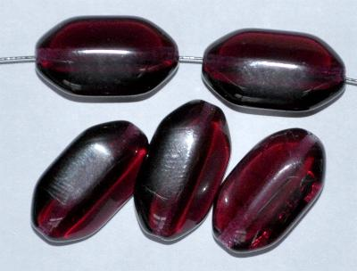 Best.Nr.:46300 Glasperlen Olive flach, kantig fuchsia