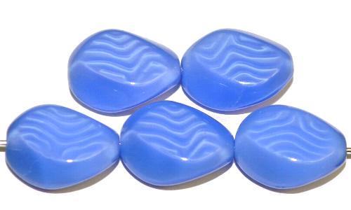 Best.Nr.:46396 Glasperlen  Perlettglas mittelblau,  hergestellt in Gablonz Tschechien