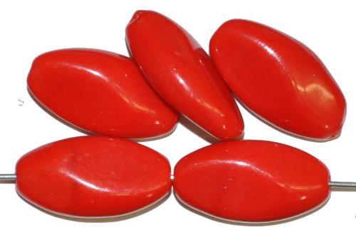 Best.Nr.:46397 Glasperlen Olive rot opak, hergestellt in Gablonz / Tschechien