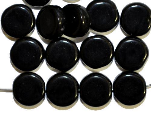 Best.Nr.:47044 Glasperlen Scheibe schwarz, hergestellt in Gablonz / Tschechien