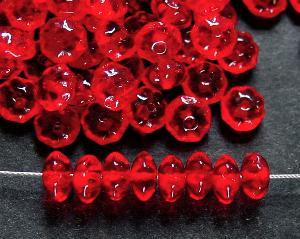 Best.Nr.:47115 Glasperlen Linse rot transparent