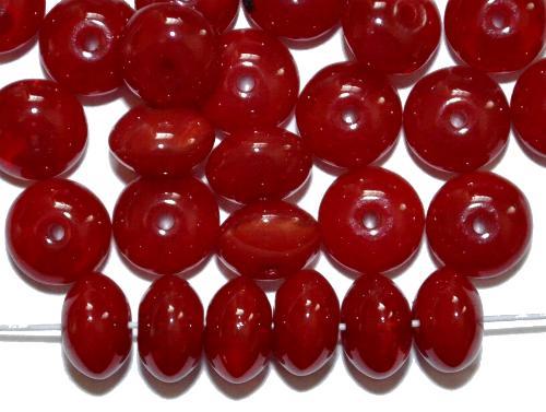 Best.Nr.:47179  Glasperlen Linse  alabasterrot,  hergestellt in Gablonz / Tschechien