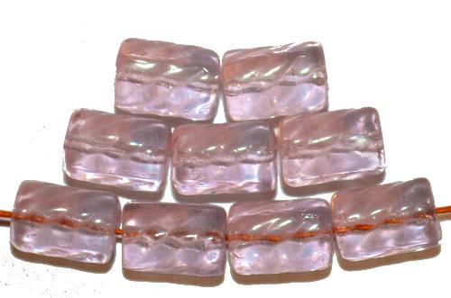 Best.Nr.:48004 Glasperlen Walze  hell frenchviolett transp., hergestellt in Gablonz / Tschechien
