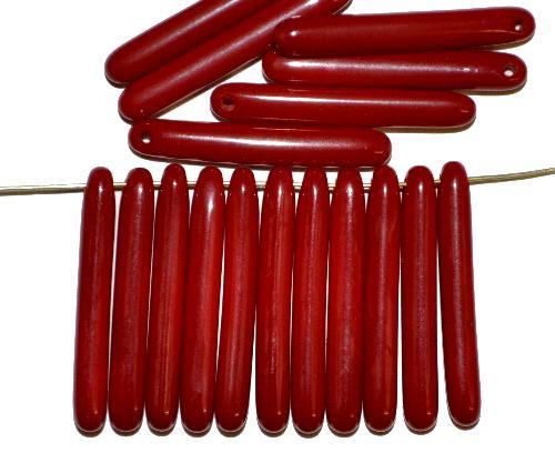 Best.Nr.:48010 Glasperlen Stäbchen dunkelrot opak, hergestellt in Gablonz / Tschechien